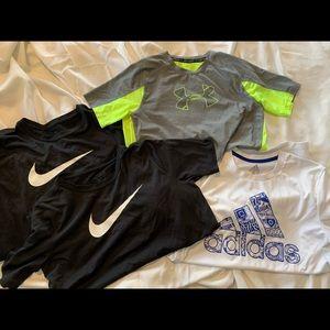 Nike, Under Armour, Addidas Dri Fit Tshirt Lot